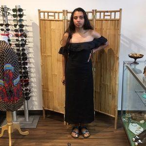 Reformation Dresses - Reformation Madrid black linen maxi dress